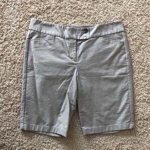 Ann Taylor grey/light tan Bermuda shorts size 10